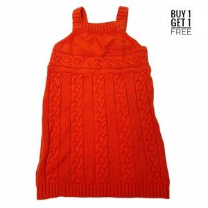 Gymboree Girls Orange Cable Knit Sweater Dress 5